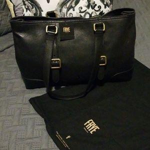 Frye Lily Tote black leather handbag